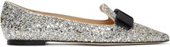 Silver and Gold Mix Speckled Glitter Gala Flats