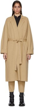 Tan Knit Cashmere Coat