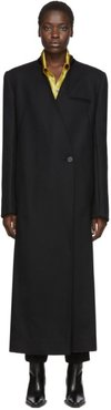 Black Lord Collarless Coat