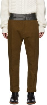 Brown Contrast Waistband Trousers