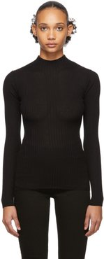 Black Juliette Fitted Turtleneck