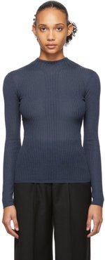 Blue Juliette Fitted Turtleneck