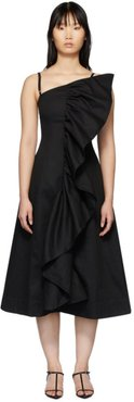 SSENSE Exclusive Black Tuck Frill Dress
