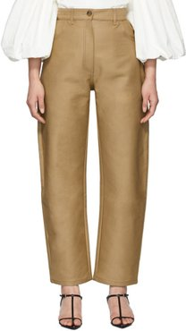 Beige Banana Trousers