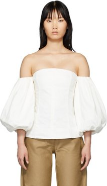 SSENSE Exclusive White Off-The-Shoulder Blouse