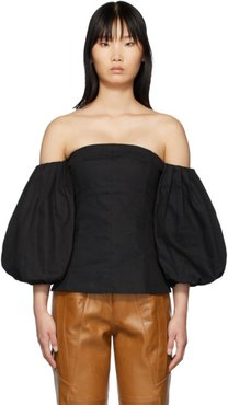 SSENSE Exclusive Black Off-The-Shoulder Blouse
