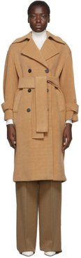 Tan Oversized Polaire Trench Coat