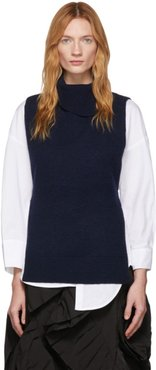 Navy Sleeveless Turtleneck