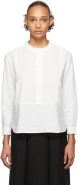 White Twill Pullover Dinner Shirt