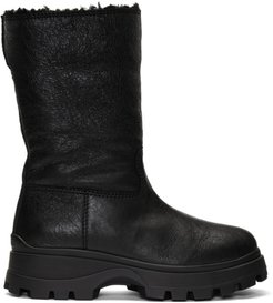 Black Eco Fur Boots
