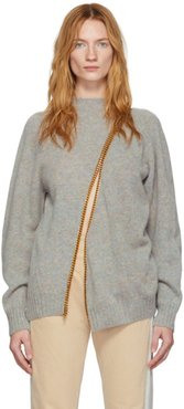 Grey and Gold Chain Divided Sweater
