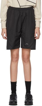 Black Piping Shorts