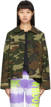 SSENSE Exclusive Brown and Green Camo Jacket