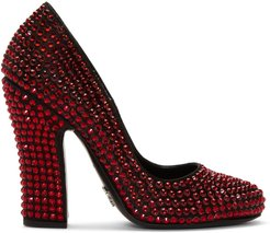 Black and Red Crystal Heels