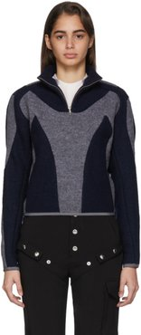 Grey and Navy Atris Pullover