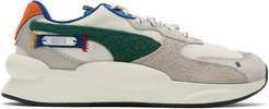 White and Multicolor Puma Edition 9.8 Sneakers