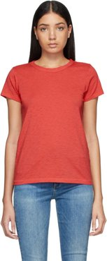 Red Pima Cotton The Tee T-Shirt
