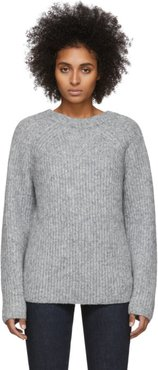 Grey Wool and Alpaca Ghost Sweater