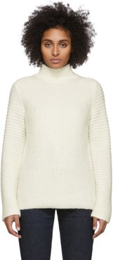 White Wool and Alpaca High Neck Turtleneck