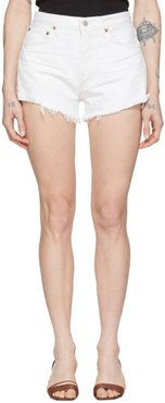 White Denim Parker Cut-Off Shorts