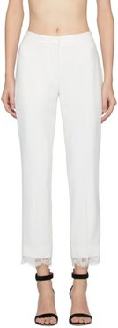 Off-White Lace Crepe Trousers