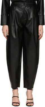 Black Faux-Leather Fran Trousers