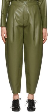 Green Faux-Leather Fran Trousers