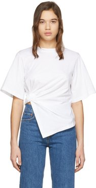 White Knotted T-Shirt