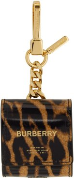 Black and Brown Earphone Keychain Case