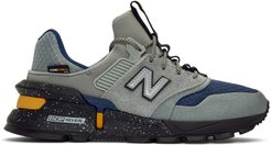 Grey and Navy 997 Sport Sneakers
