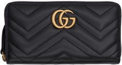 Black GG Marmont Continental Wallet