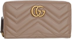 Pink GG Marmont Continental Wallet