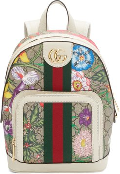 Multicolor Small GG Flora Ophidia Backpack
