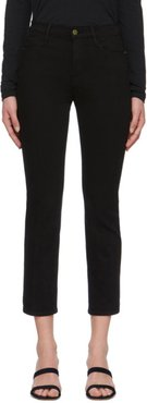 Black Le High Straight Jeans