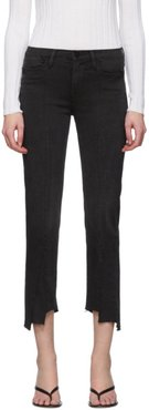 Grey Le High Straight Jeans