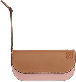 Tan and Pink Gate Continental Wallet