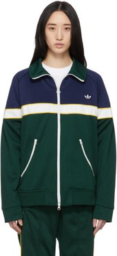 Green and Blue Samstag Track Sweater