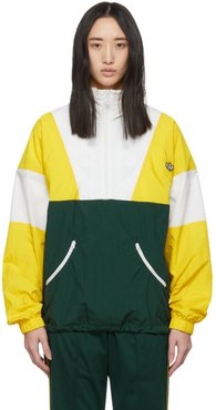 Yellow and Green Samstag Track Sweater
