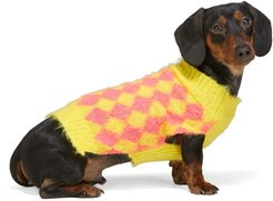 SSENSE Exclusive Yellow and Pink Dog Sweater