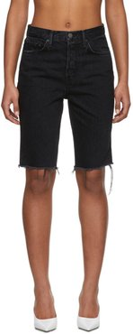 Black Denim Beverly Shorts