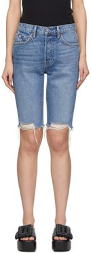Blue Denim Beverly Long Shorts