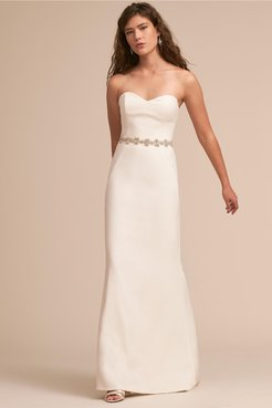 Paige Gown In Ivory - Size: 12