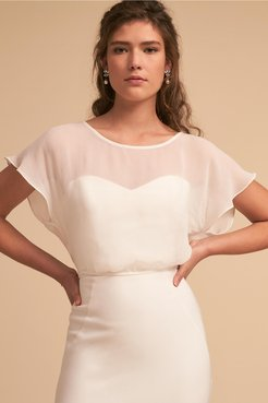 Sloane Topper In Ivory - Size: Xl