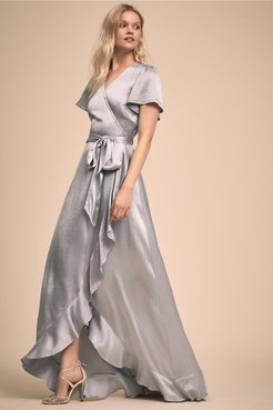 Phoebe Dress In Fog - Size: S