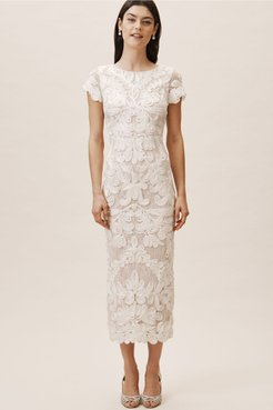 Js Collection Santiago Dress In Ivory - Size: 12
