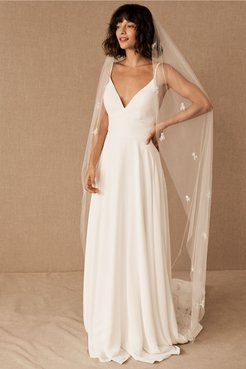 Rosalba Veil In Ivory - Size: One Size - at BHLDN