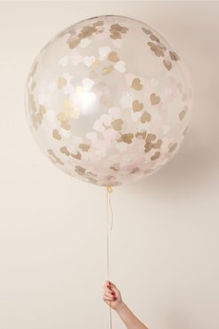 Jumbo Heart Confetti Balloon In Pink - Size: One Size