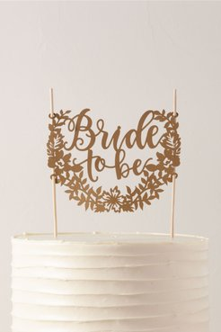 Bride To Be Cake Topper In Ivory