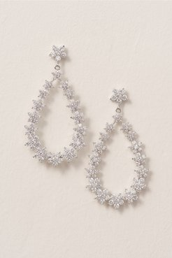 Nina Crystal Bouquet Chandelier Earrings In Silver - Size: One Size - at BHLDN
