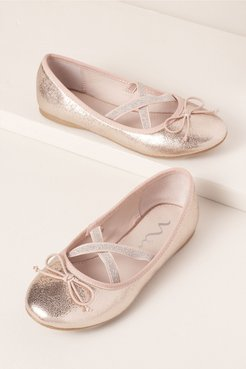 Nina Gelsey Flower Girl Flats In Rose by Nina - Rose - Size: 11T